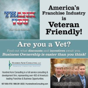 Veteran franchise ad thank you for your service