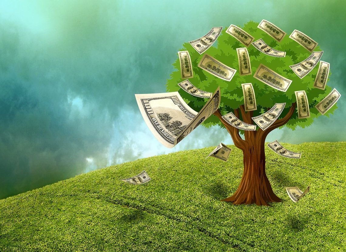 Tree growing money