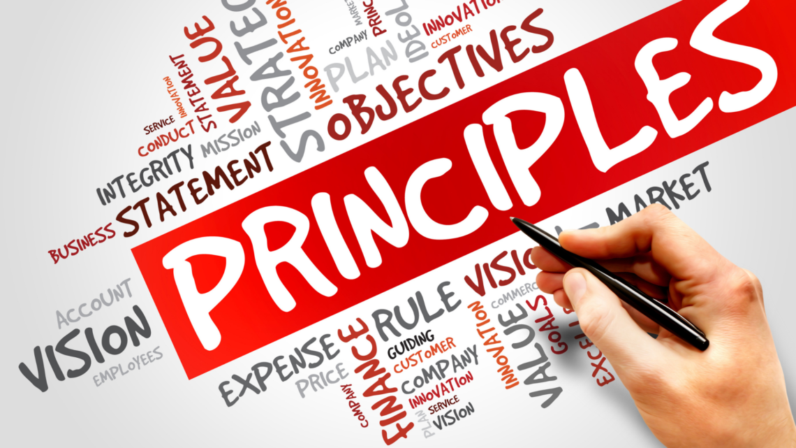 graphic detailing all of the words associated with the word principle